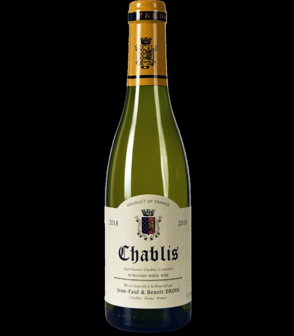 Chablis 2018 - Domaine Jean-Paul et Benoit Droin - Vin en demi-bouteille sur VINAdemi