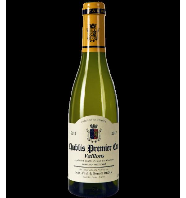 Chablis Premier Cru Vaillons 2017 - Domaine Jean-Paul et Benoit Droin en demi-bouteille sur VINAdemi
